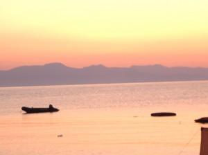 Sonnenaufgang in unserer Bucht