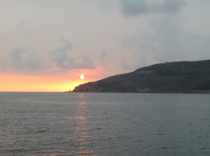 Sonnenuntergang in Neo itylo