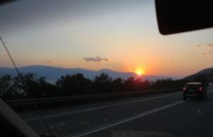 Start im Morgen von Patras