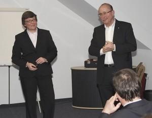 Meine Wenigkeit mit Prof. Dr. Kathrin Möslein im IF-Forum.