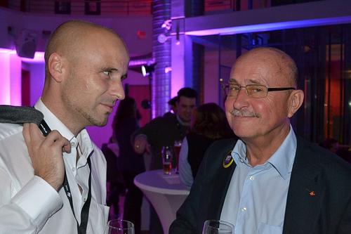 Hier mit Dr. Marcus Raitner (links).