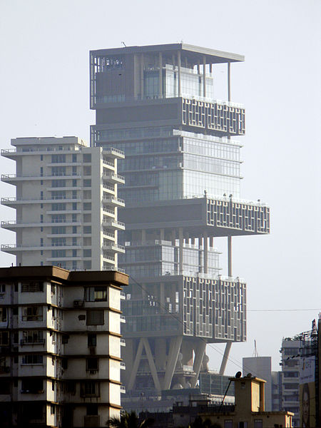 Hochhaus-Mumbai-Antilia