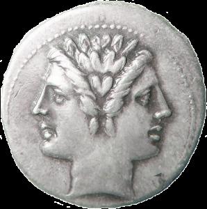 Münze mit Januskopf (ca. 220)