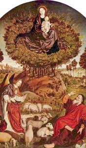 Triptychon vom brennendem Dornbusch, Mitteltafel