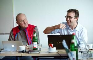 Hier mit Klaus Hofeditz bei der Strategie Klausur 2016 von PM-Camp.org in Berlin.