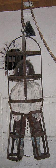 Eisenkäfig (hier: Florenz, ausgehendes 17. Jahrhundert) als Folterwerkzeug