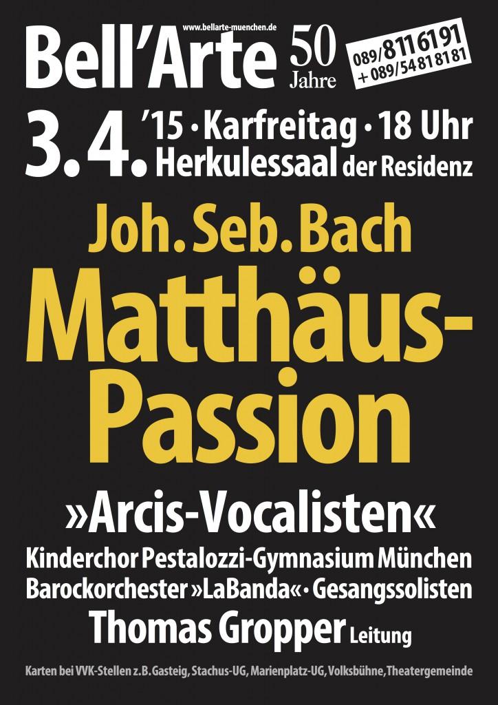 Plakat 3.4. Matthäus-Passion