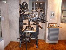Columbia-Presse von 1820, ausgestellt in der DASA in Dortmund