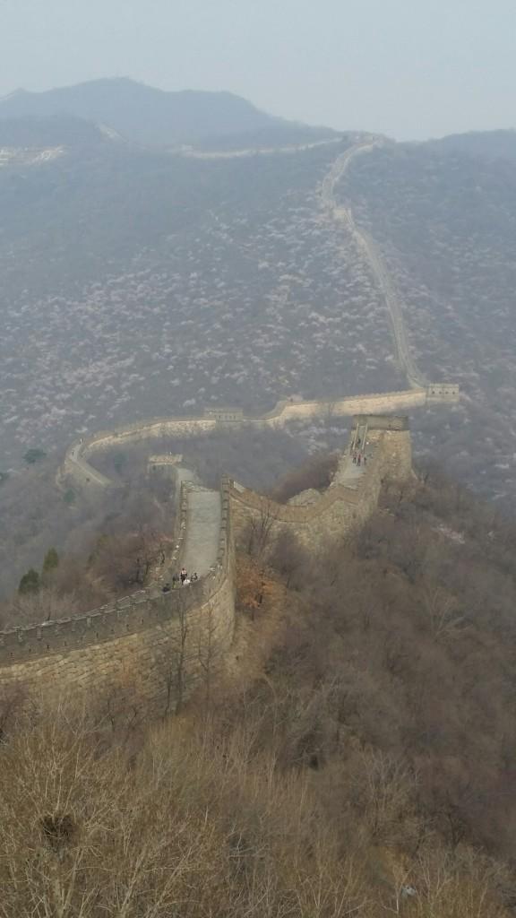 Chinas Smog und Dunst macht vor der GREAT WALL nicht halt.