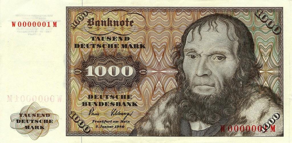 :-) Was waren das noch für Zeiten, wie man diesen Schein als Reserve versteckt in seinem Geldbeutel hatte.