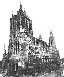 Das Ulmer Münster 1887