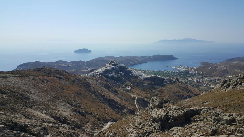 Abstieg zur Chora in Serifos am letzten Tag.