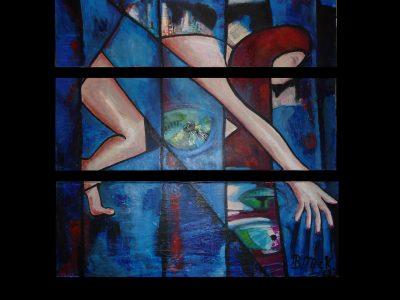3-teilige Acrylmalerei von Bettina McKinney